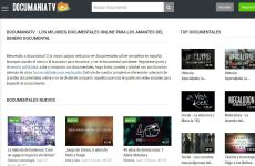 Documania TV: sitio para ver documentales en español online (documentales de historia, arte, ciencia, música, tecnología, etc.)