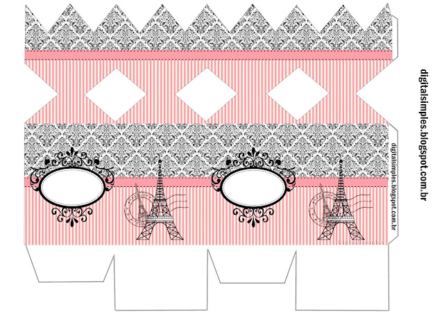 Beautiful Paris Free Printable Box.