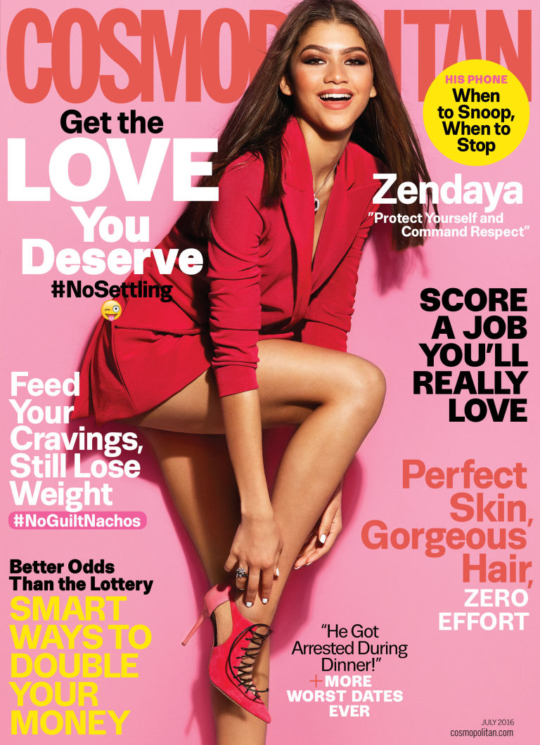 Zendaya covers Cosmopolitan July 2016