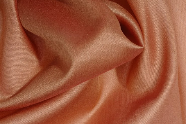 Light Rust Orange Cotton Silk Fabric