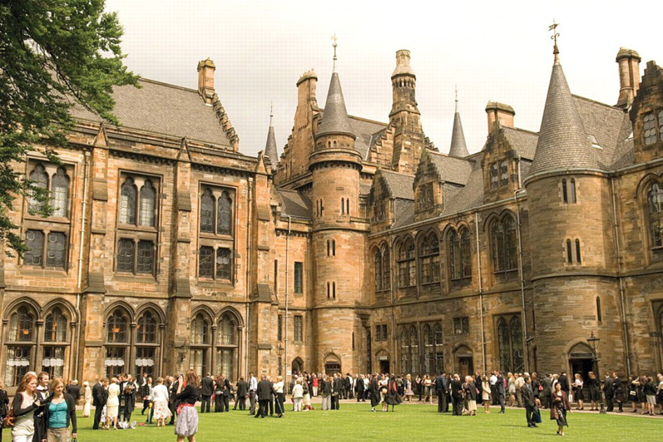 Glasgow University Located At Gilmorehill In The West End Of City