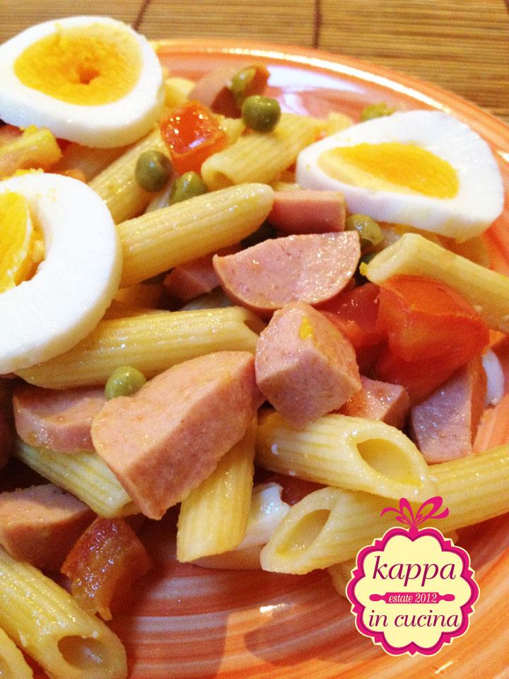 Famoso Pasta fredda piselli, wurstel, uova e pomodoro - K in cucina QI26