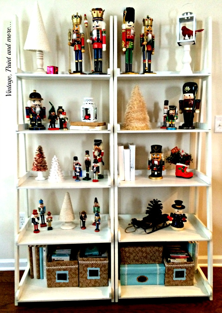 Vintage, Paint and more... vintage nutcracker collection with diy cone trees as decor
