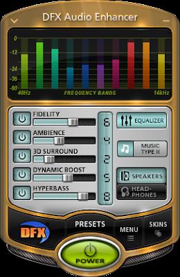 تحميل برنامج DFX Audio Enhancer لتضخيم الصوت