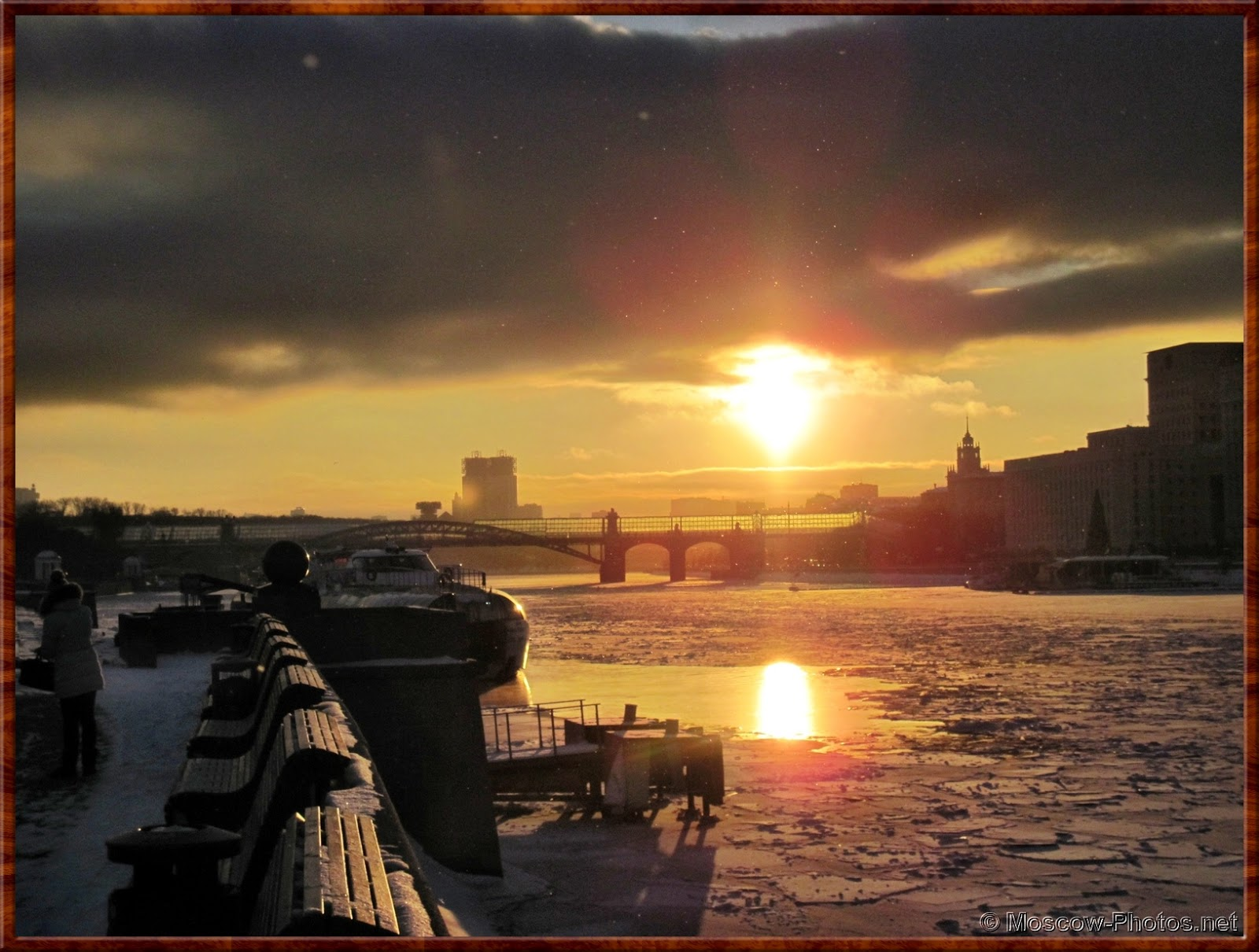 Sunset over Moscow River