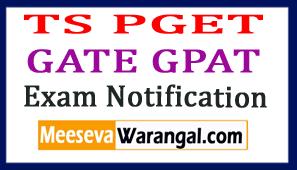 TS PGET 2017 GATE  GPAT 2017-18 Exam Notification