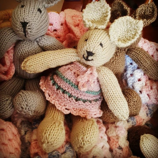 Cute Knitted Bunny