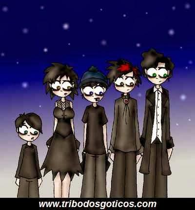 goticos,kinder goth,preto
