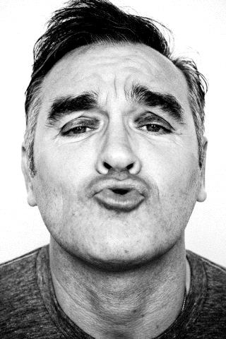 Rostro del cantante Morrissey