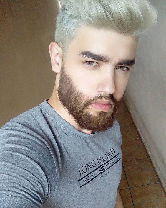 La Moda En Tu Cabello Cabello Blanco Gris Para Hombres 2017