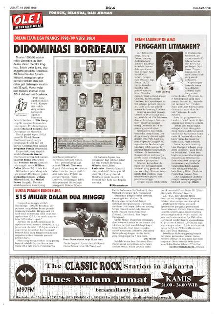 DREAM TEAM LIGA PRANCIS 1998/99 VERSI BOLA DIDOMINASI BORDEAUX