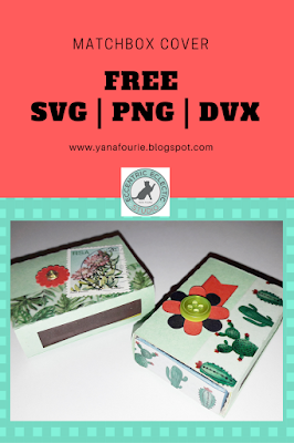 free SVG PNG DVX matchbox cover file, cameo silhouette, tutorial, DIY, craft, paper, eccentric eclectic studio, Yana Fourie