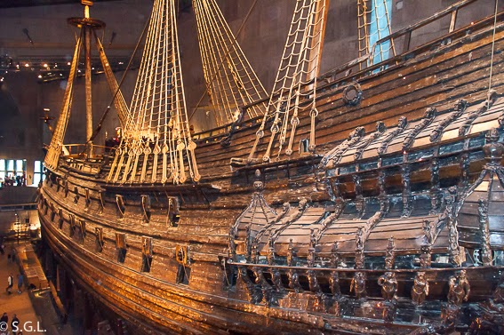 El museo Vasa, un galeon del S. XVII en Estocolmo