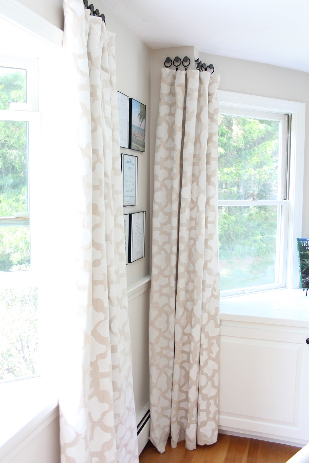 Stenciled Drop Cloth Curtain Tutorial Shine Your Light