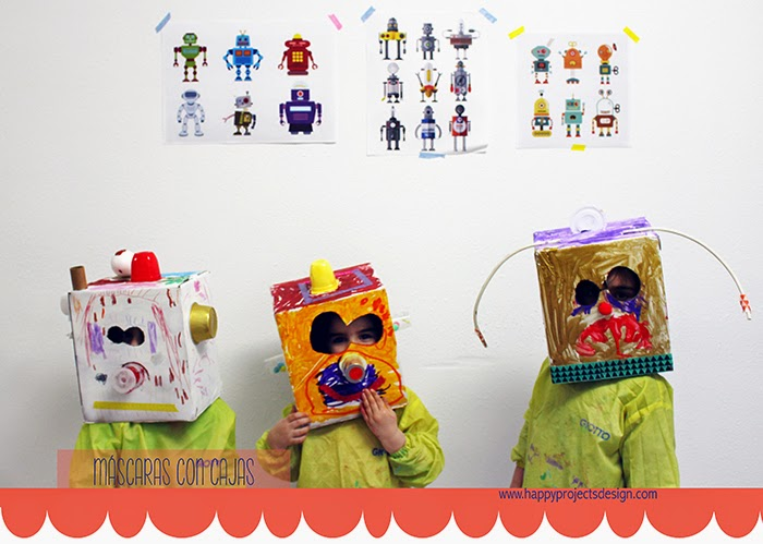 DIY máscaras robot upcycling