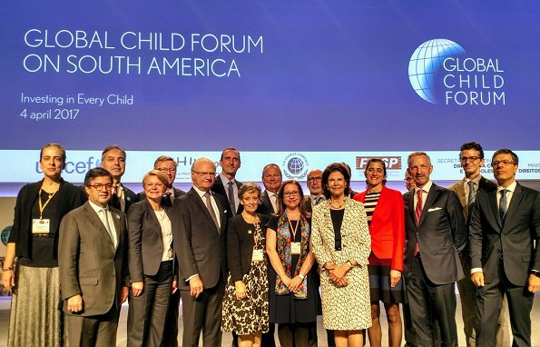 Global Child Forum on South America inauguration ceremony at Sao Paulo's Industry Federation building in Sao Paulo, Brazil