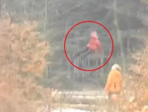 Mysterious Flying Girl in Russia