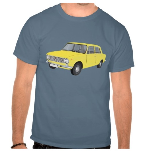 Classic automobiles t-shirts Fiat