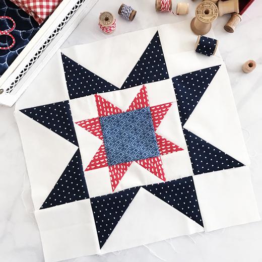 Star in a Star Block Free Pattern