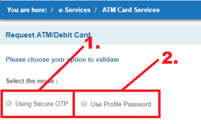 how to get sbi emv chip debit card online
