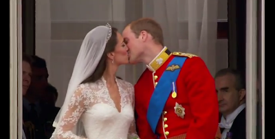 Kate and William royal wedding kiss pictures