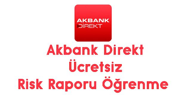 akbank direkt ücretsiz risk raporu öğrenme
