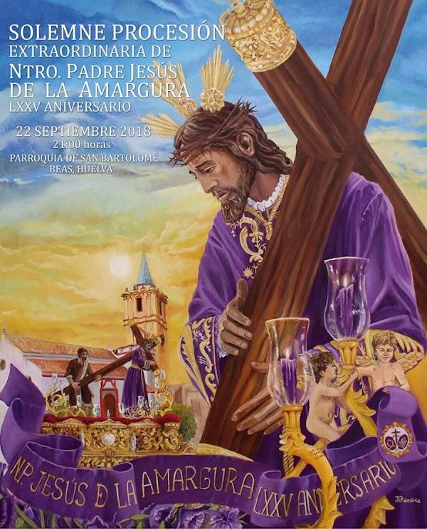 Cartel de la procesión extraordinaria del Señor de Clarine