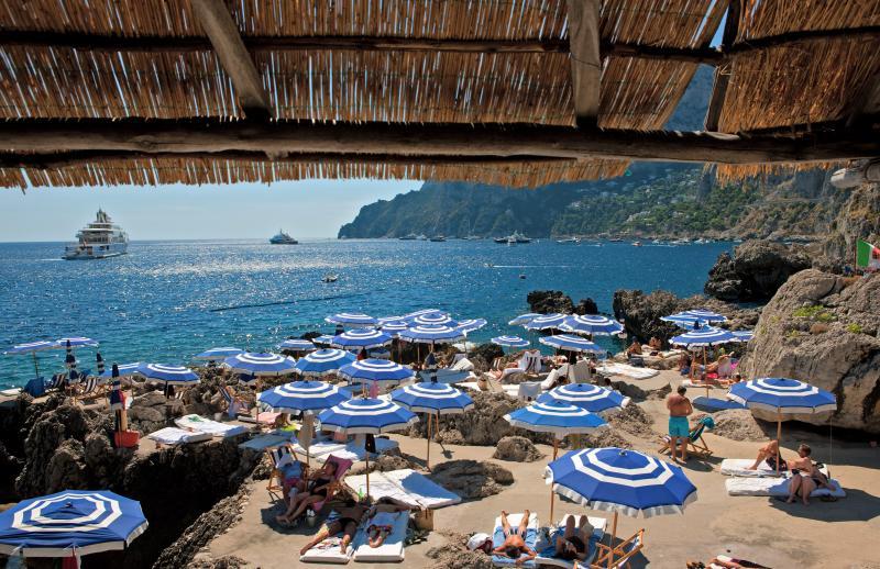 Spiaggia La Fontelina, Capri Italy
