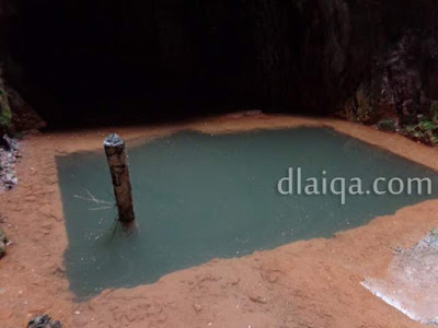 kolam di dalam gua (terowongan fuk salu)