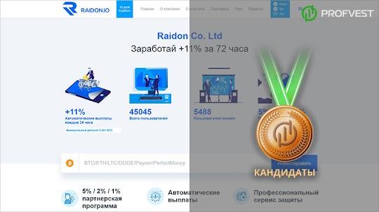Кандидаты: Raidon – 13,5% чистой прибыли за 3 дня!