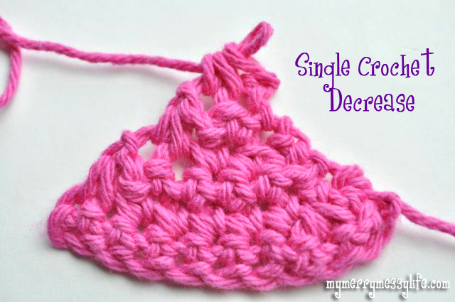 Example of a Single Crochet Decrease - A Complete Photo Tutorial for Beginners