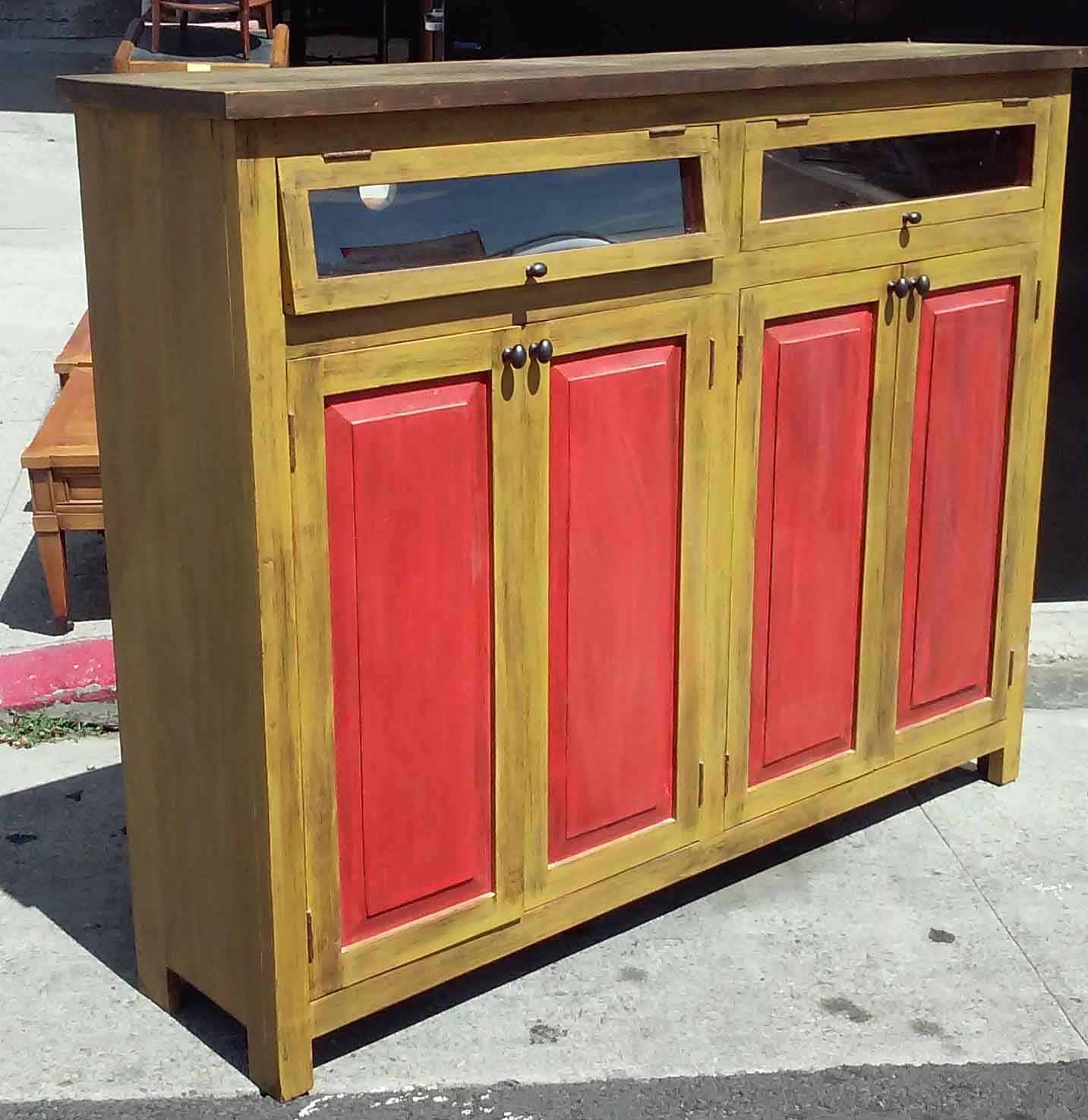 UHURU FURNITURE & COLLECTIBLES: SOLD Mexican Pine Cabinet