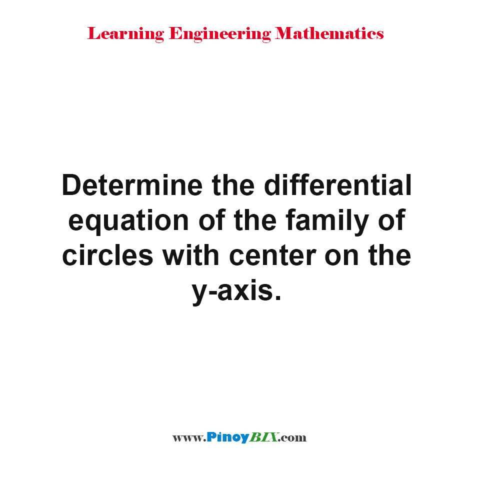 Determine the differential equation of the family of circles with center on the y-axis.