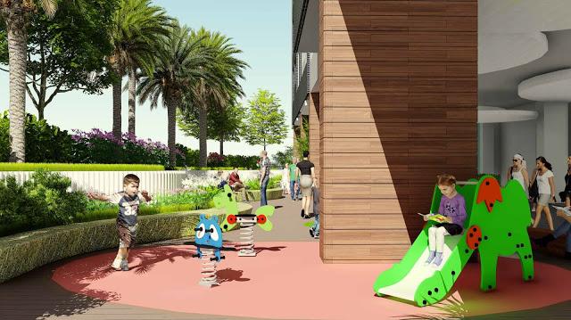 Khu vưi chơi cho trẻ em tại chung cư 423 Minh Khai
