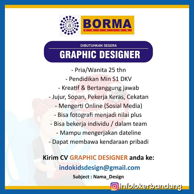 Lowongan Kerja Yens Baby & Kid Shop Indokids & Borma Fashion Bandung Februari 2019