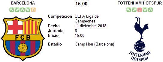 Barcelona vs Tottenham Hotspur en VIVO