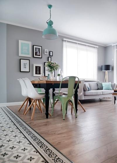 Una vivienda cargada de detalles en color mint