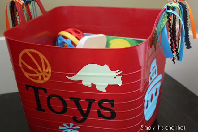 Simply This And That Plastic Tub Turned Toy Bin