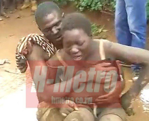 Married Zimbabwean man caught having sex with mentally challenged woman on Christmas Day (Photos)