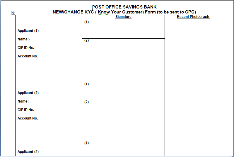 Revised aof kyc form for cbs post office finacle - Open a post office bank account online ...