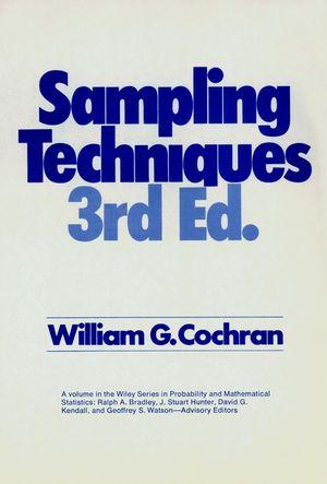 Sampling Techniques By William G Cochran Pdf
