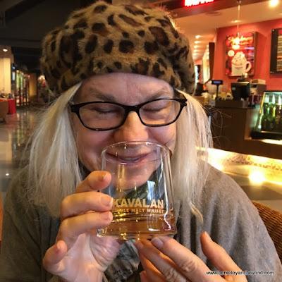 Carole Terwilliger Meyers tasting at Kavalan Whisky distillery in Yilan, Taiwan