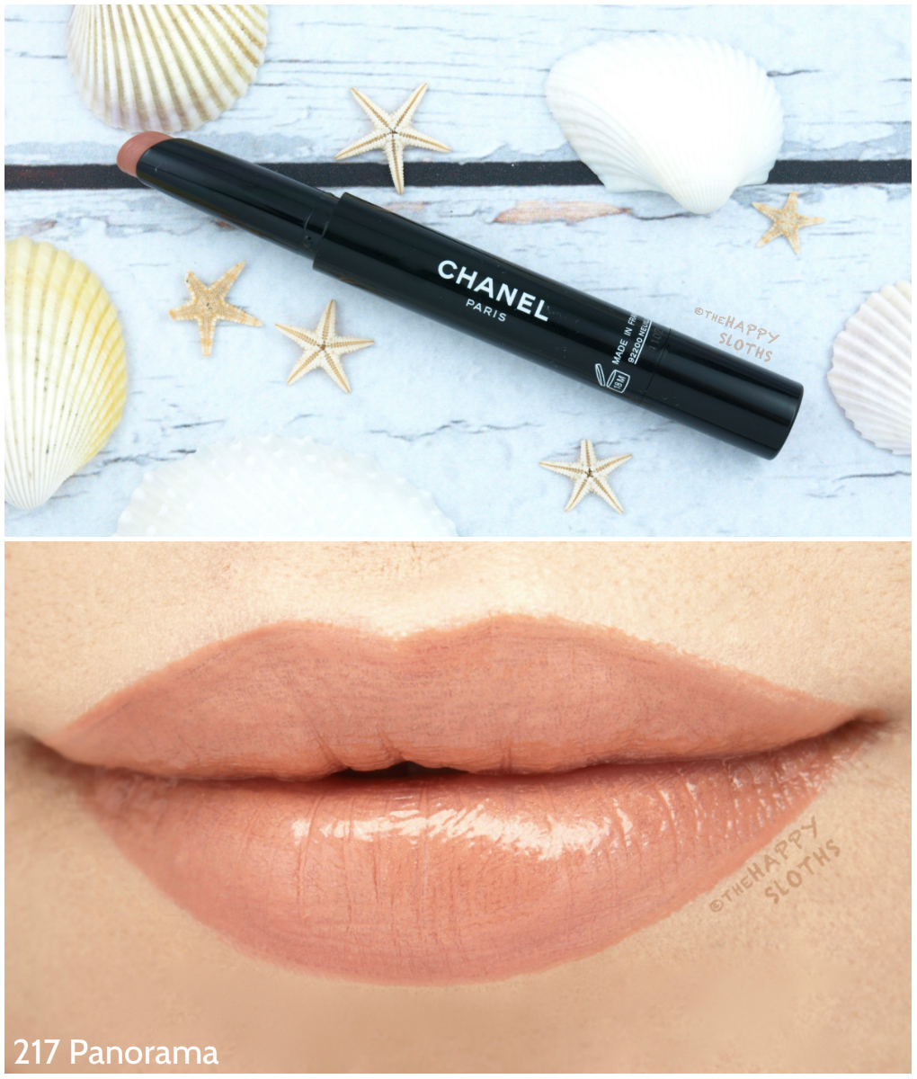 Beauty marker chanel rouge coco lipsticks review and swatches - Chanel Rouge Coco Stylo Complete Care Lipshine In 217 Panorama