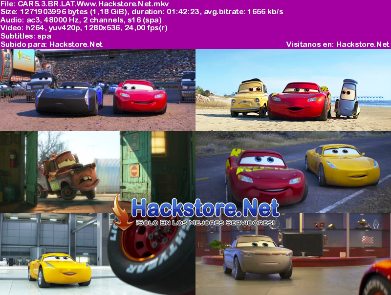 Capturas de Cars 3 (2017) Blu-Ray RIP HD Latino + Subs