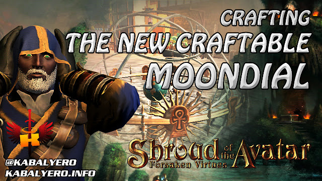 Crafting The New Craftable Moondial 🎮 Shroud of the Avatar Crafting