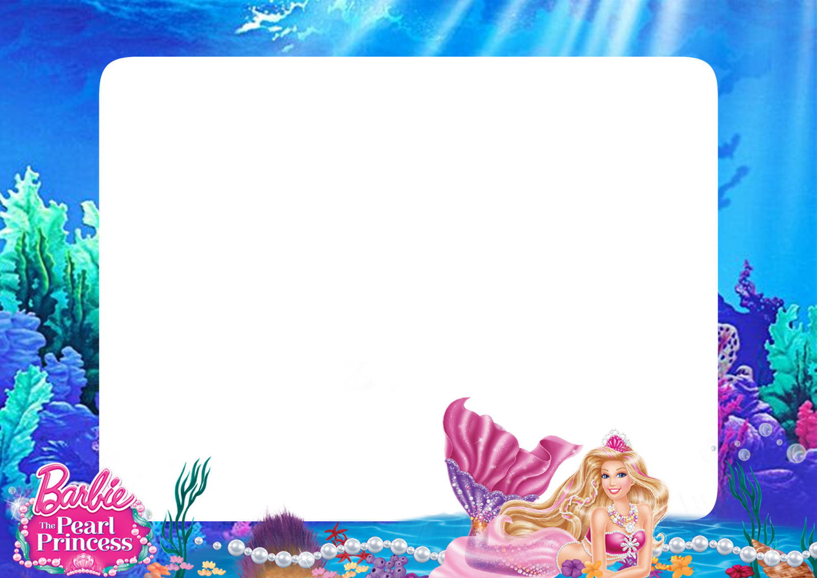 Barbie mermaid png frame printable png frames cartoon download now jeuxipadfo Choice Image
