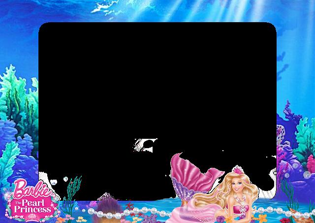 Barbie Mermaid PNG Frame - Printable PNG Frames | Cartoon Character ...