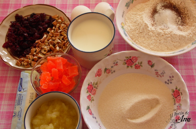 Receta de pastel de frutos secos