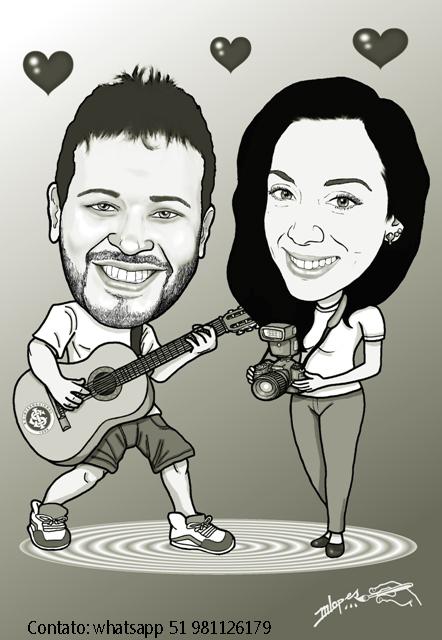 Encomende a sua caricatura com o Desenhista Marcelo Lopes de Lopes