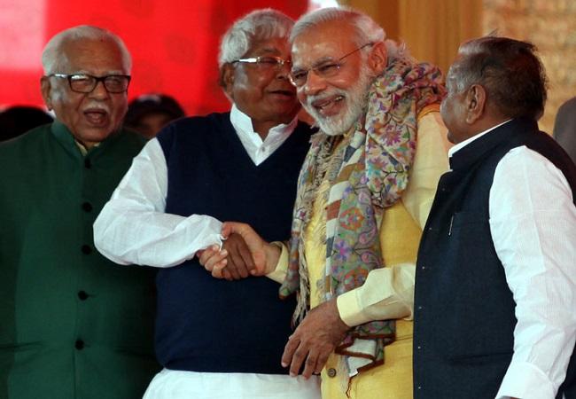 लालू और तेजश्वी  ने दी प्रधानमंत्री मोदी को बधाई कहा .......